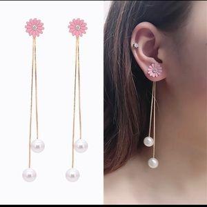 Pearl Chrysanthemum Statement Earrings